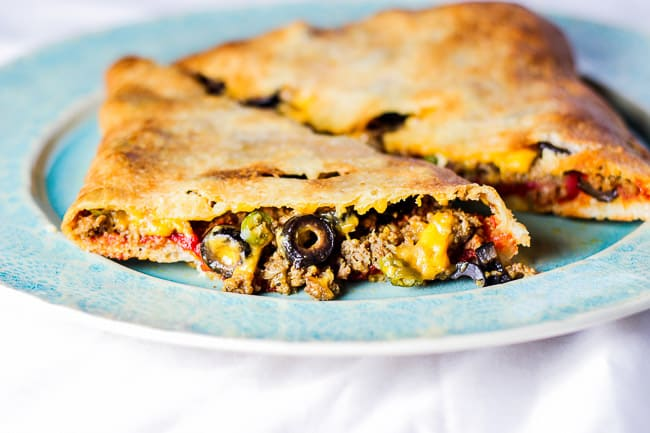 Ground Beef and Cheddar Calzones
