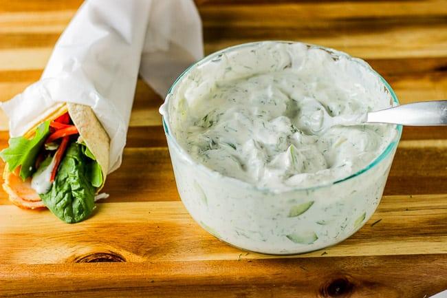 Cucumber Dill Yogurt Dip (Maast o Khiaar)