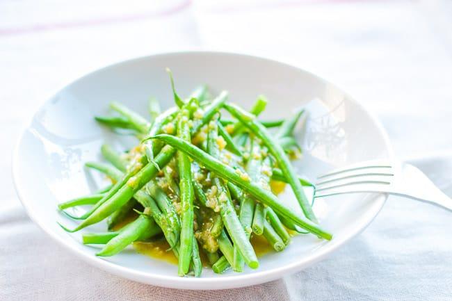 Tangy Garlic Dijon Vinaigrette with French Green Beans