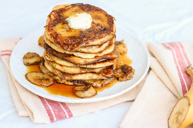 the best brown sugar and banana pancakes-9